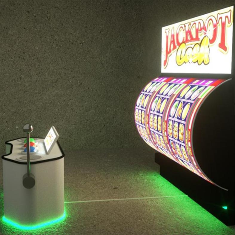 ゲームシステム搭載のジャックポット型ビジョン